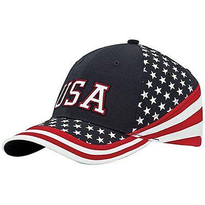 MG Washed Cotton Twill Stars & Stripes USA Ball Cap Hat USA Flag Cap](Mg Hats)