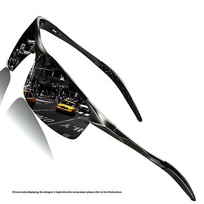 Men Outdoor Sport Goggles HD Polarized Fishing Sunglasses Aluminum UV400 (Sports Goggles Uk)