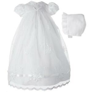 Robe baptême fille organza