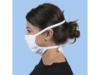 Gildan Adult Reusable 3-Layer Tie-On Face Mask (48 Pack)