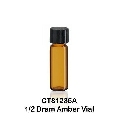 100 Small Amber Vials W Caps 12 Dram 116 Oz. Tiny 12 Dram 1.9 Ml