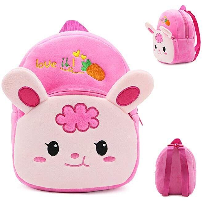Kids Plush Baby Toddler Cute Animal School Bag Mini Ultra Soft Backpack 1-3 Yrs