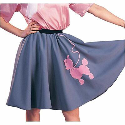 Poodle Skirt Halloween (RUBIE'S 50'S POODLE SKIRT GRAY ADULT HALLOWEEN COSTUME ACCESSORY STANDARD)