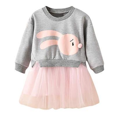 Bunny tutu dress for girls Easter Princess Patchwork Sweatshirt Tulle US - Tulle For Tutu