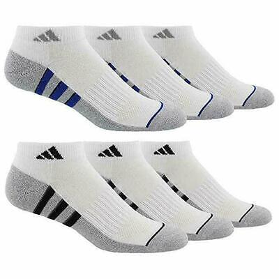 Adidas Men's 6-pair Low Cut Sock with Climalite White Shoe Size 6-12 GOLF  Climalite Cushion Low Cut Sock