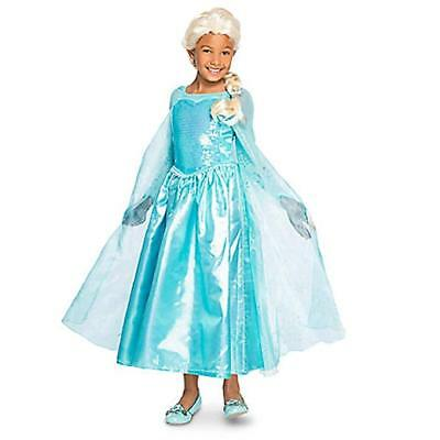 GIRLS SIZE 9-10 ELSA FROM FROZEN COSTUME DRESS DISNEY STORE - Elsa From Frozen Costume