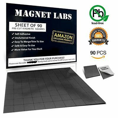Adhesive Magnets Tape Sheet Of 90 Magnetic Squares 20x 20x 2mm