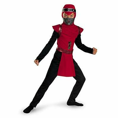 New Shadow Ninjas Night Fury Red Viper Ninja Child Costume Large 10-12 - Night Fury Costume