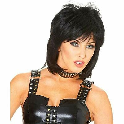 Costume Culture 80s Cool Black Joan Jett Wig Halloween Costume Accessory 24864