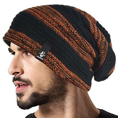 NWT Unisex Forbusite Slouch Beanie Skully Cap Black and Rust Halloween FREE SHIP (Skully Halloween)