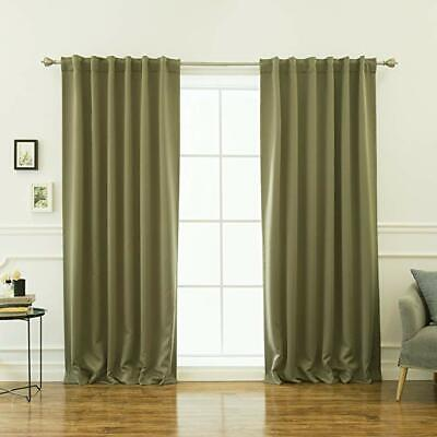 Best Home Fashion Thermal Insulated Blackout Curtains - Back Tab/ Rod Pocket (Best Blackout Curtains Rods)