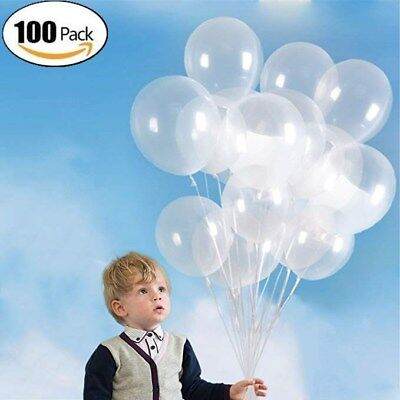 Wholesale 100PCS Transparent Latex Balloons Birthday Wedding Party Decor Clear (Wholesale Latex Balloons)