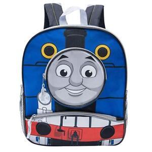 Thomas the Train and Friends Boys Preschool 14 inch School Backpack (Blue)