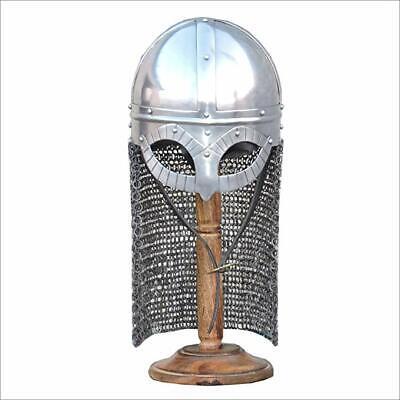 Halloween Viking Ship (Medieval Spectacle Viking Armor Helmet Halloween Costume Silver+Exp)