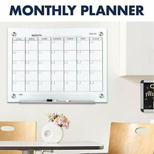 Brand new Large tempered glass magnetic calendar