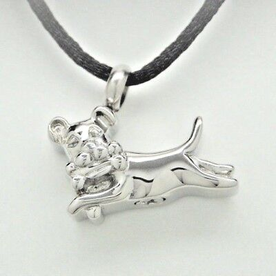 Dog Ashes Holder Necklace in Stainless Steel || Pet Memorial Keepsake
