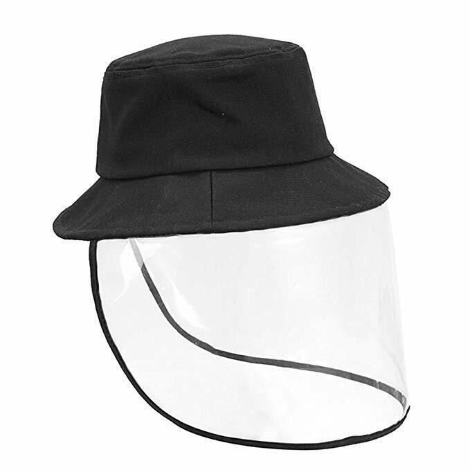 Homealexa Cappello da Pescatore Antipolvere con Visiera Trasparente Protettiva Cappello Nero Unisex Donna Uomo per Vita Quotidiana Attivit/à allAria Aperta