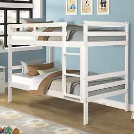 💛💛Colour Options Available💛💛NEW SINGLE WHITE WOODEN BUNK BED -- WHITE AND PINE COLOURS