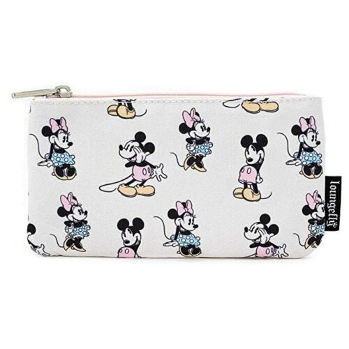 Loungefly DISNEY Pastel Minnie Mickey Mouse AOP Cosmetic Art Supplies Coin Pouch