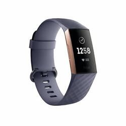 Fitbit Charge 3  Tracker - Pebble Only | Free Shipping | Rose Gold