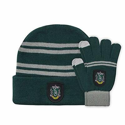 Harry Potter Hat (2pcs Harry Potter Slytherin Beanie Hat Cap and Touchscreen Gloves Xmas)