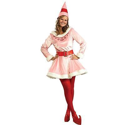 Rubies Elf Jovi Deluxe Pink Santa Adult Womens Christmas X-Mas Costume - Jovie Elf