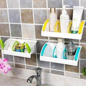 Plastic colourful handy shower rack