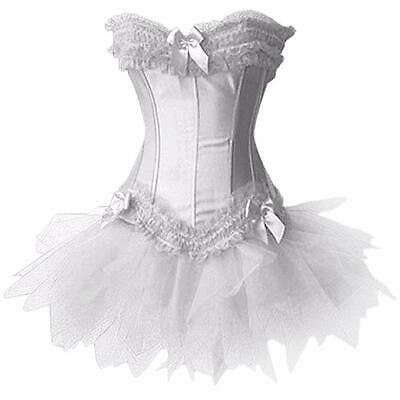 White Hen Party Corset Sexy Corset with TUTU - Moulin Rouge Kostüm Party