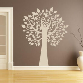 Tree with Leaves Wall Art Sticker - FREE Shipping - UK