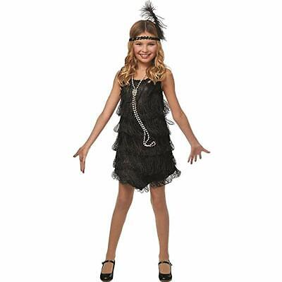 Costume Culture 1920er Flapper Schwarz Kinder Halloween Kostüm - Kinder 1920 Kostüm