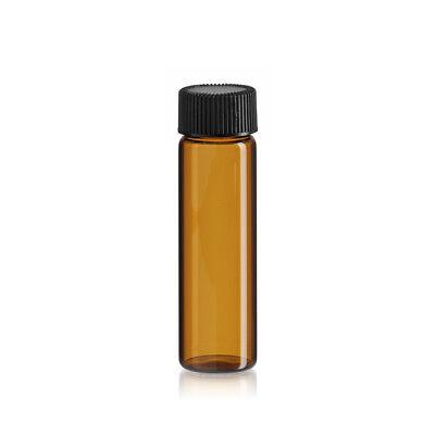 144 Pcs 4 Dram Amber Glass Vials Wscrew Caps 15ml