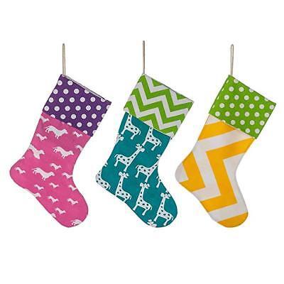 3 Pack Burlap Christmas Stockings Decoration - Dachshund Giraffe Fireplace X-Mas](Burlap Stockings Christmas)