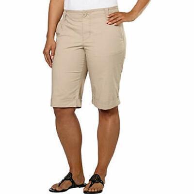 DKNY Jeans Women's Poplin Cuffed Bermuda -