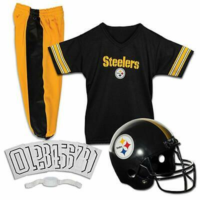 Kids Pittsburgh Steelers NFL Football Uniform Jersey Helmet Youth Costume Set S - Youth Football Costumes