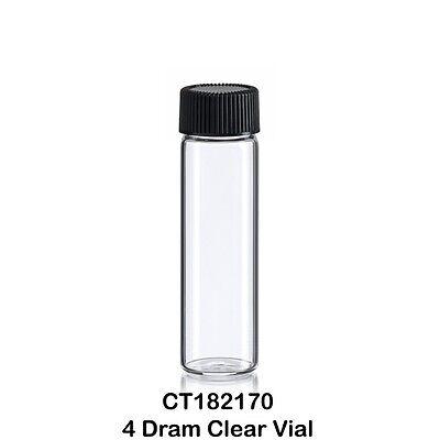 50 Clear Glass Vials W Screw Caps 12 Oz. - 4 Dram 15 Ml 21 Mm X 70 Mm