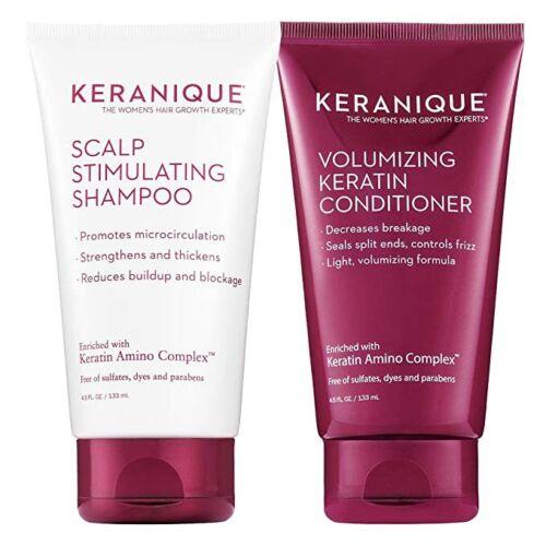 Keranique Scalp Stimulating Shampoo & Volumizing Conditioner 4.5 oz DUO/FreeShip