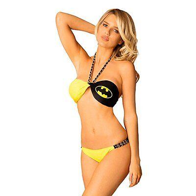 Batman-Logo Kette Twist Low Gehoben Strand Bandeau Damen - Erwachsene Batman Anzug
