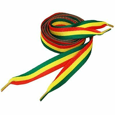 - Premium Rasta Stripe Green Red Yellow Shoe Laces Shoestring Shoelaces