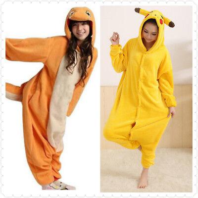 Unisex Pokemon Pikachu Onesiee Kigurumi Maskenkostüm Kapuzenpullover Pyjamas