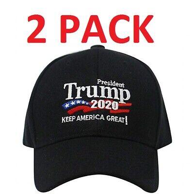 2 PACK Trump Cap Keep America Great MAGA hat President 2020 KAG2020](Pack Hat)