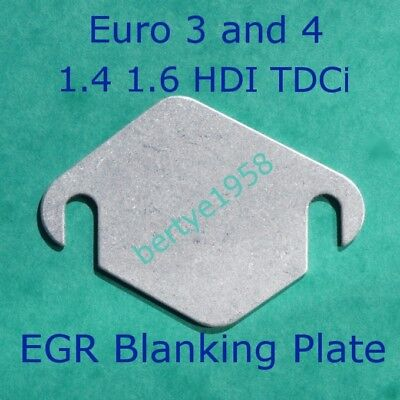 EGR Blanking Plate Ford Fiesta Focus C-Max Modeo TDCi Volvo D 1.4 1.6 Euro3 & 4