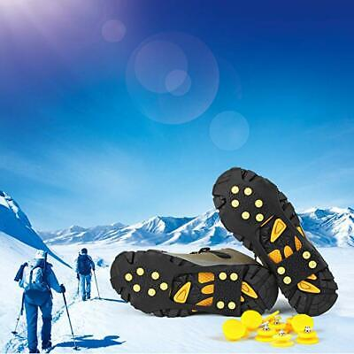 Ice Cleats Snow Traction Shoe Boot Cleats Anti Slip 10-Studs Rubber Crampons US