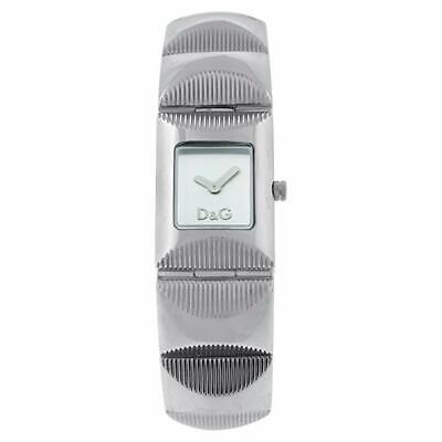 D&G Dolce & Gabbana DW0322 Tweed Armbanduhr Damen, Edelstahl, Silber - Neu
