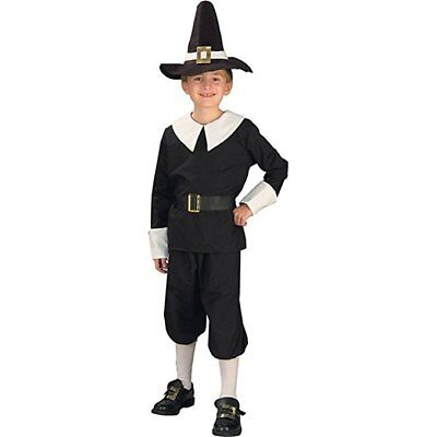 Historical Colonial Pilgrim Boy Amish Child Costume School play Halloween Size L