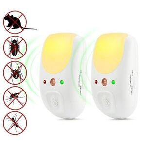 Ultrasonic Pest Repeller Plug In with Motion Night Light