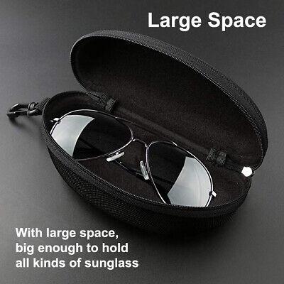 Portable Zipper Sunglasses Carry Box Case Eye Glasses Clam Hard Shell (Sunglasses Zipper Box)