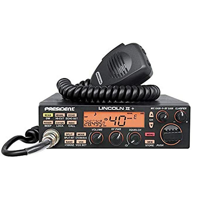 Portable CB Radio NEW President Lincoln II +  10 and 12 Meter compact scanner