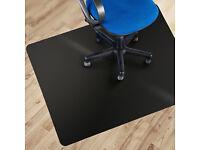 Black Polycarbonate Office Chair Mat - 120x150cm (4'x5') - NEW