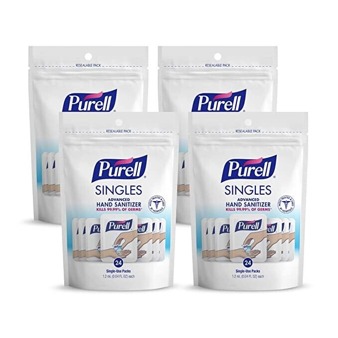 4Purell 24 Singles Pouch (4x24) Expire 11/22