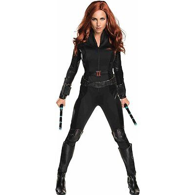 Womens Black Widow Costume (Rubies Marvel Black Widow Civil War Avengers Womens Halloween Costume)